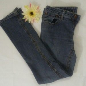Free People Blue Jeans Distressed Slim Fit Size 31